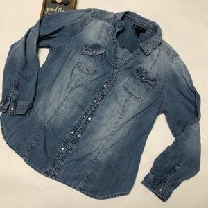 Lane Bryant Denim shirt
